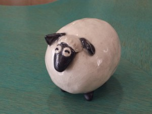 羊置き物_葉山2015正月